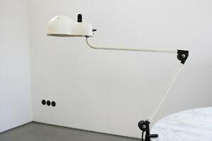 Joe Colombo Topo Schreibtischleuchte Lampe Klemmleuchte by Stilnovo 70s
