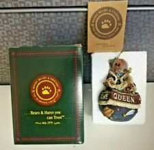 I Am The Queen Globe Christmas Ornament Boyds Bears Collection Nib