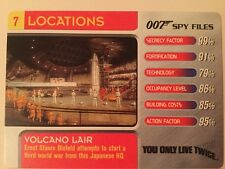 Volcano Lair You Only Live Twice #7 Locations - 007 James Bond Spy Files Card