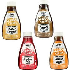 Skinny Food Zero Calories Pancake Syrup Pack Maple Strawberry Chocolate Caramel