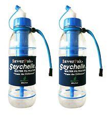 $averPak 2 Pack -Includes 2 Seychelle 20oz Sports Bottle BLUE w/ STANDARD Filter