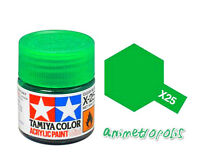 TAMIYA COLOR X-25 Clear Green MODEL KIT ACRYLIC PAINT 10ml Free Shipping New