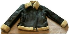 Womens NEXT genuine Leather Coat Jacket Bnwt Size Uk 6p