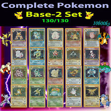 NM COMPLETE Pokemon BASE-2 Entire Full Card Set/130 All Holo Rare Charizard TCG