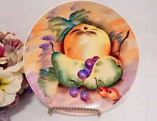 Decorative Plate Hand Painted Still Life Fruit Signed Art Vintage Wall Hanging