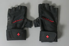 """Harbinger"" Size 8 Mens Weight Fitness Pro Wristwrap Gloves Great! Bargain Price"