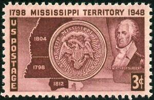 EBS USA 1948 - Statehood of Mississippi - 955 MNH**