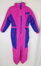 Kid's Vintage R.A. Sports Ski Snow Suit One Piece Pink Purple Size Large