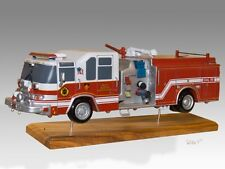 Pierce Quantum Fire Truck Wood Model