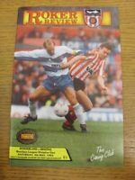 04/05/1991 Sunderland v Arsenal [Arsenal Championship Season] (In very good/mint