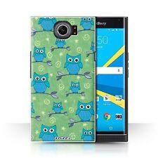 STUFF4 Back Case/Cover/Skin for BlackBerry Priv/Cute Owl Pattern