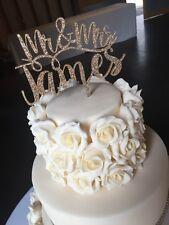 Nuestros diseños brillo impresionante Sr. & sra. Wedding Cake Toppers
