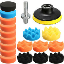 19PCS 3 Inch 80mm Flat Sponge Buff Buffing Pad Polishing Pad Kit Set, US STOCK
