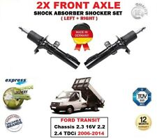 FOR FORD TRANSIT Chassis 2.3 16V 2.2 2.4 TDCi 2006-2014 2X FRONT SHOCK ABSORBERS