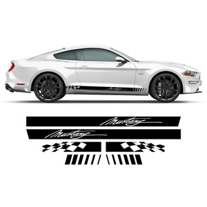 Checkered Rocker Side Stripes , for Ford Mustang 2015 - 2021
