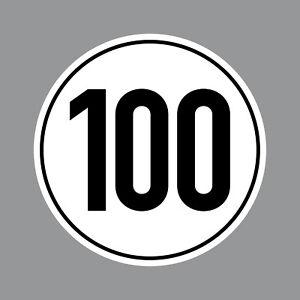 100kmh Amusement Autocollant 10cm Sticker Mofa Scooter Vespa Kart de Course Quad