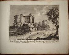 Stampa antica Castello Acqua Marcia trofei di mario roma old print 1796 M. Vasi