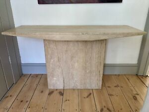 TRAVERTINE STONE MARBLE CONSOLE TABLE