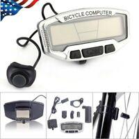 Bicycle Bike Cycle LCD Display Digital Speedometer Tachometer Gauge Odometer NEW