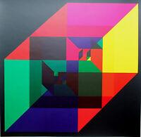 TIMO HEIMANN - Abstrakte Komposition. Unsignierter Siebdruck, Domberger.