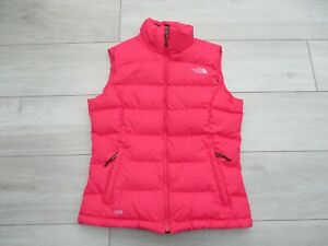 The North Face Womens Nuptse 2 Gilet Goose Down 700 S 10-12 Red Body Warmer