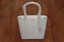 NWT Michael Kors $298 Hayley Large Floral North South Top Zip Tote Handbag White