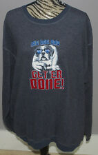 Big Dog Dad Get Er Done Fleece Sweatshirt Mens XL Polar Dogs Big Dogs High Tech