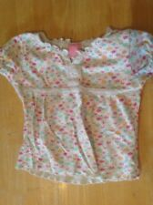 Girls Floral Cotton Top - Age 3-4