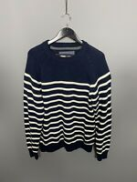 FAT FACE Jumper - Size Large - Striped - Wool - Great Condition - Mens