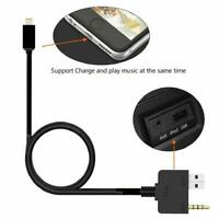 3.5mm AUX USB Music Interface Lighting Charge Cable For KIA Hyundai IPhone 7 8 X