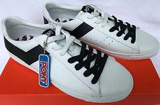 Pony Topstar Low Leather 171000902W Wht Retro Fashion Sneakers Shoes Men's 10.5