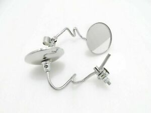 VESPA CHROMED ROUND SIDE MIRROR SET