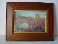 Pond Life Picture Mounted in Wooden Frame (very slight damage)