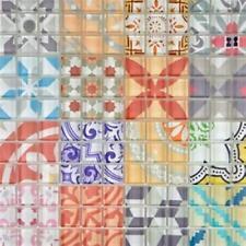 Mosaïque verre translucide rétro multicolore Design 88-Retro-31_f | 10 plaques