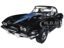 "1967 CHEVROLET CORVETTE 427 BLACK ""MCACN"" LIMITED 1002pc 1/18 AUTOWORLD AMM1099"