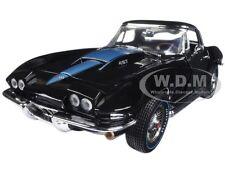 """1967 CHEVROLET CORVETTE 427 BLACK """"MCACN"""" LIMITED 1002pc 1/18 AUTOWORLD AMM1099"""