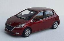 Norev 3 inches 1/60. Peugeot 208 5 portes rouge foncé  Neuf en boite