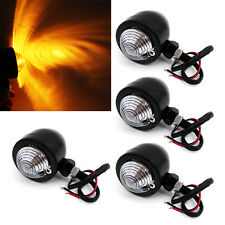 4pcs Motorcycle Turn Signal Indicator Light Lamp For Harley Chopper Cafe Racer