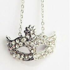 Metal mask Long section necklace Women and Men Silver accessories HOT