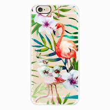 For iPhone 8 7 6s Plus Clear Flamingo Pattern Soft TPU Silicone Phone Case Cover