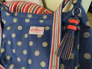 Cath Kidston blue silver spot shoulder tote bag Sold w/ new Marcs Leather tassel