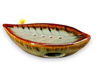 Keramik Seifenschale Blatt handmade Seifenablage seifen Schale Badezimmer Ablage