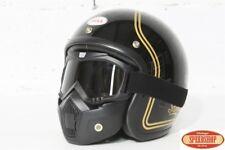 masque fumé noir casque jet moto vintage café racer custom lunette détachable