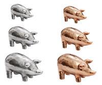Sparschwein Keramik Silber Kupfer XXS - XXL Spardose Schwein Geschenk Gravur Neu