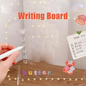 Simple Fully Transparent Acrylic Writing Folder Board Paper Holder Painting BDA