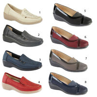 Womens Loafers Flat Casual Comfortable Ladies Slip On Wedge Girls Pumps Shoes