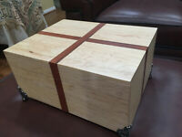 Handmade Maple humidor/stash box with Spanish Cedar lining holds 25-50 cigars.