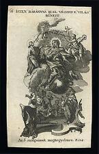 holy card engraving  ISTEN BÁRÁNYA KI ELVESZED A VILÁG BŰNEIT 18th.