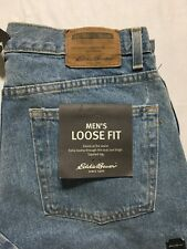 Eddie Bauer Jeans Mens 31x30 Loose Fit Tapered Leg Light Wash NWT