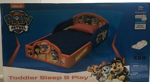 Nick Jr Paw Patrol Plastic Sleep and Play Toddler Bed by Delta Children Red Blue